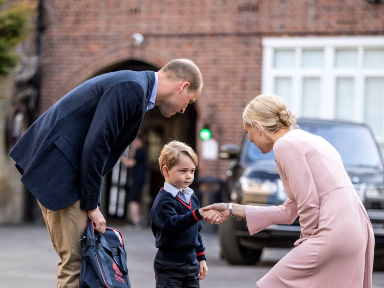 The young prince meets Helen Haslem, head of St Thomas's lower school