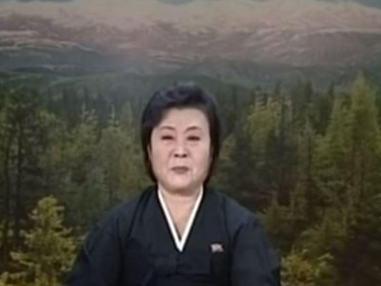 North Korean newsreader Ri Chun-hee announces news of Kim Jong-il's death in 2011