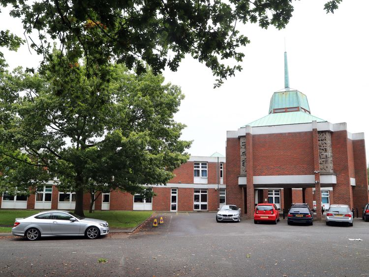 St. Olave's Church of England Grammar School in Orpington, Kent, as the school faces a legal challenge after withdrawing places for a number of A-level students who failed to achieve certain grades