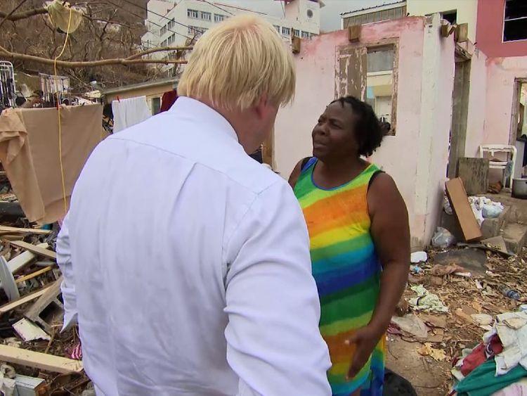 Boris Johnson visits Tortola