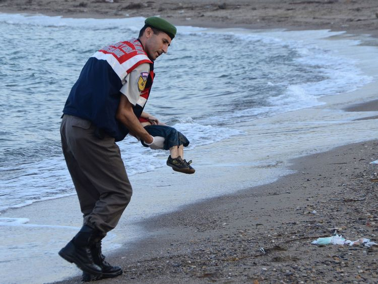 Alan Kurdi drowned while trying to reach Greece in September 2015