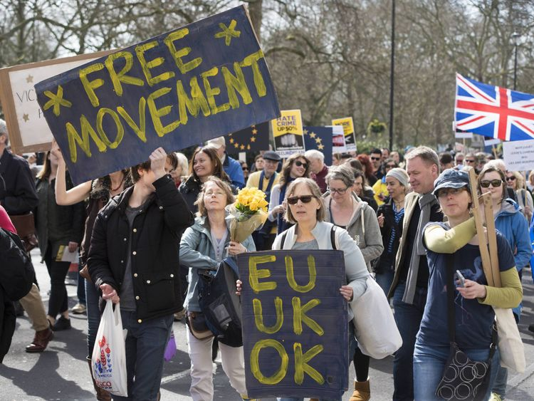 pro-Remain march