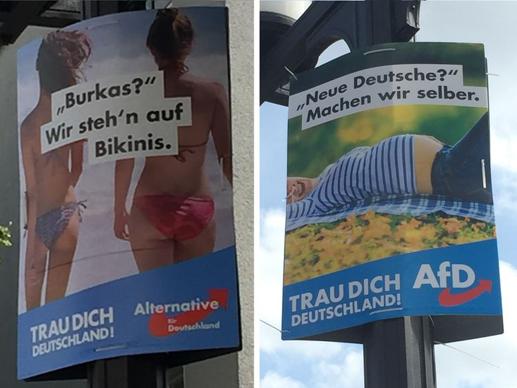 The far right AFD has stoked controversy with its anti-Islam campaign posters