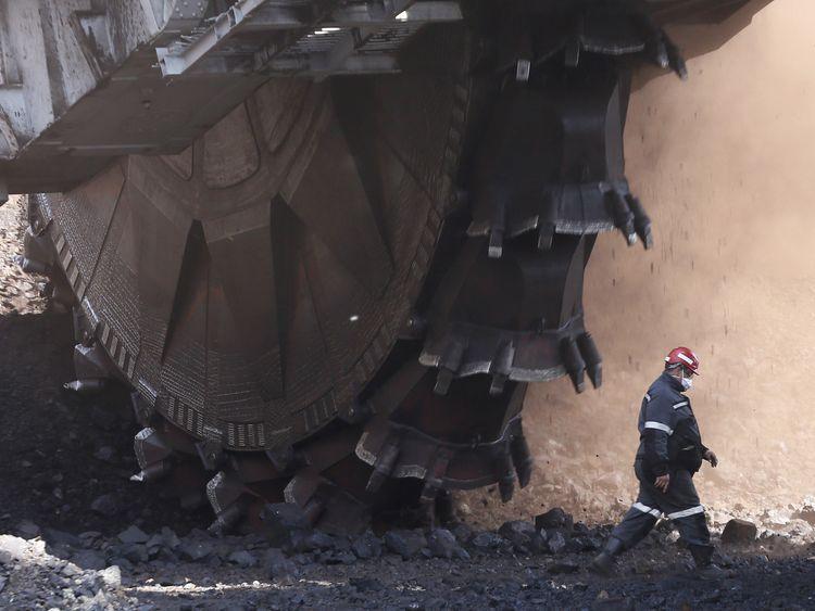 The Beryozovsky opencast colliery near the Siberian town of Sharypovo in Krasnoyarsk region, Russia