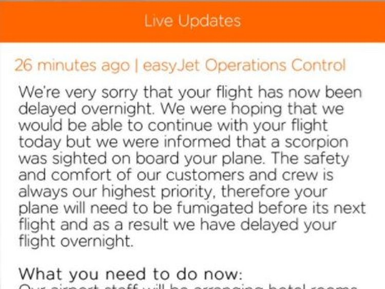 Passenger Graham Mckinnon wrote: 'You having a laugh @easyJet'
