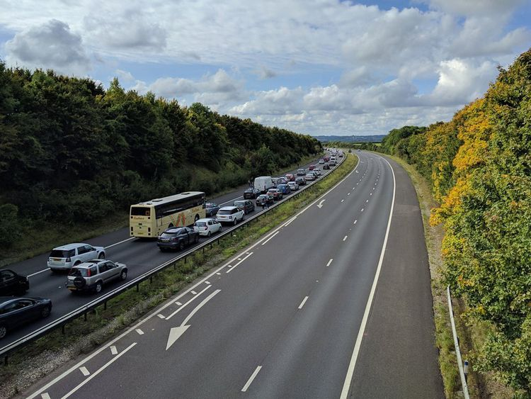 The motorway remains partially closed