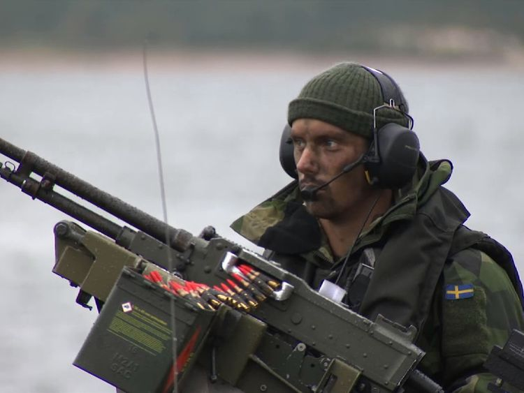 Thousands of troops have taken part in Aurora 17 exercises on the island of Gotland