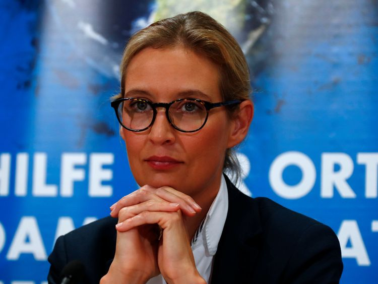 Alice Weidel of the anti-immigration party Alternative for Germany