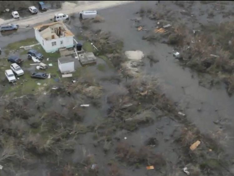 Destruction on Barbuda caused by Hurricane Irma