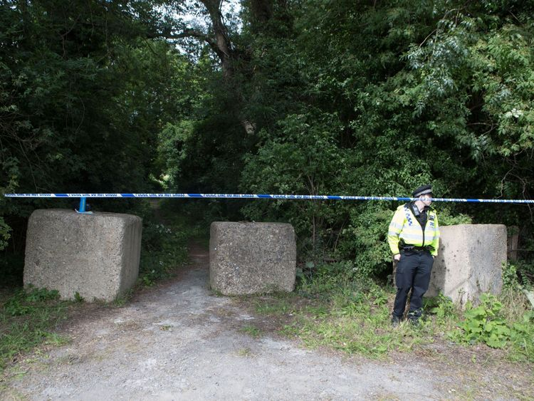 Thames Valley Police officers at the scene of a fatal shooting near the Colnbrook bypass in Berkshire
