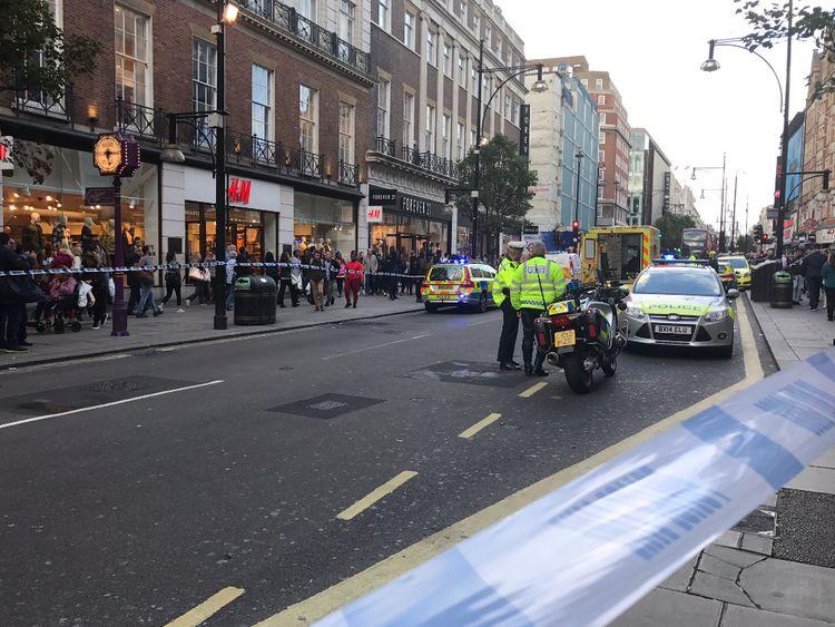 Police at the scene. Pic: Rita Alvarez Tudela