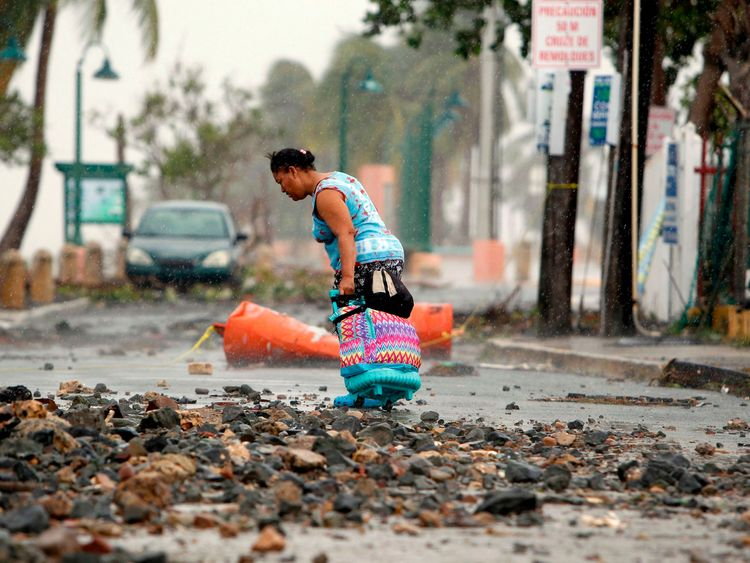 Three people have been killed by Irma in Puerto Rico