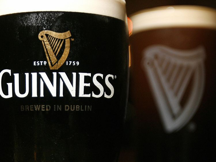 Pints of Guinness beer are pictured in London, on May 9, 2008. Diageo, the alcoholic beverages giant, said Friday it plans to overhaul its Guinness operati