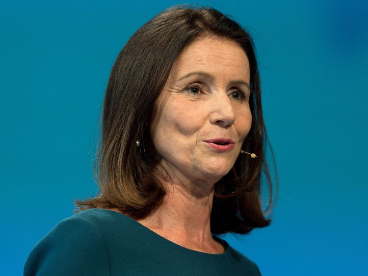 CBI Director General, Carolyn Fairbairn addresses delegates at the annual Confederation of British Industry (CBI) conference in central London, on November 21, 2016. / AFP / Justin TALLIS (Photo credit should read JUSTIN TALLIS/AFP/Getty Images)