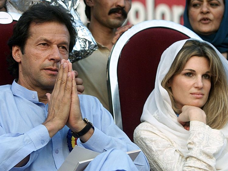 Jemima with Imran Khan who was Mahhmood's sporting hero