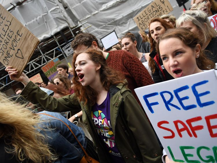 A March for Choice also took place in London