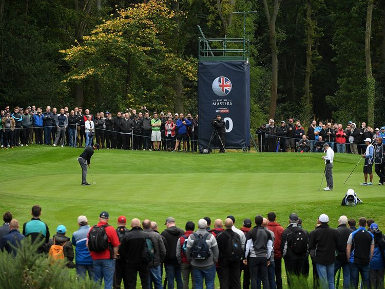 The 10th hole during day one of the British Masters at Close House