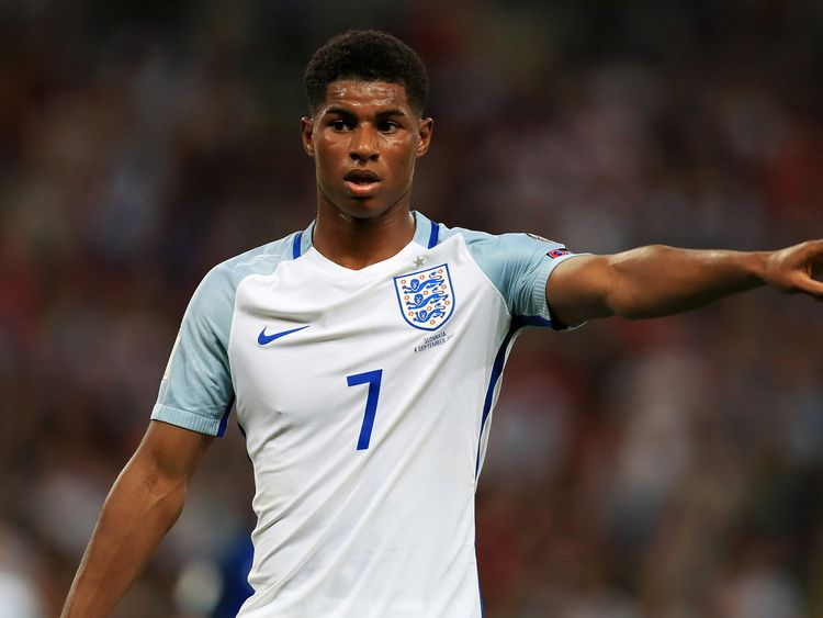 England's Marcus Rashford during the 2018 FIFA World Cup Qualifying, Group F match v Slovakia at Wembley Stadium, London