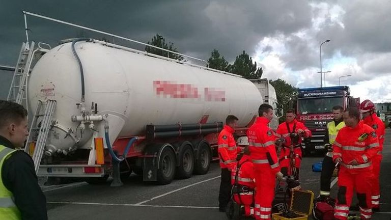 The tanker was packed with people, as well as a containment of  plastic pellets