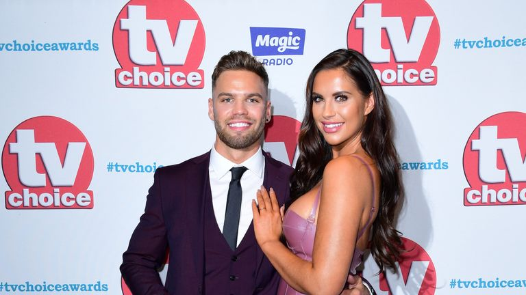 Dom lever and Jess Shears attending the TV Choice Awards 2017