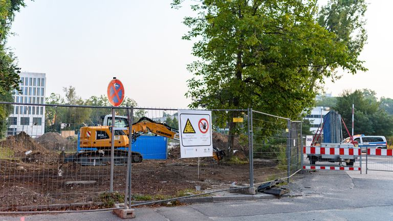 The bomb was discovered on a construction site in a Frankfurt suburb