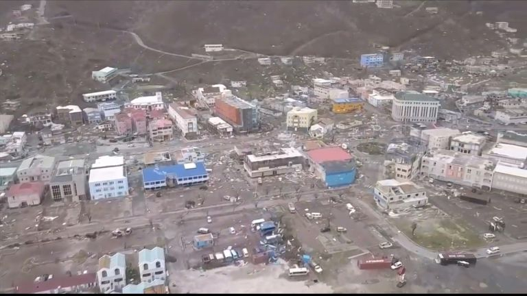 Destruction caused by Irma on the British Virgin Islands