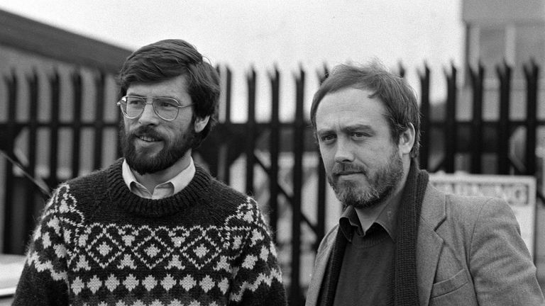 Dec 1982: Gerry Adams and Danny Morrison -the two Sinn Fein Leaders banned from Britain after the Greater London Council invited them to London