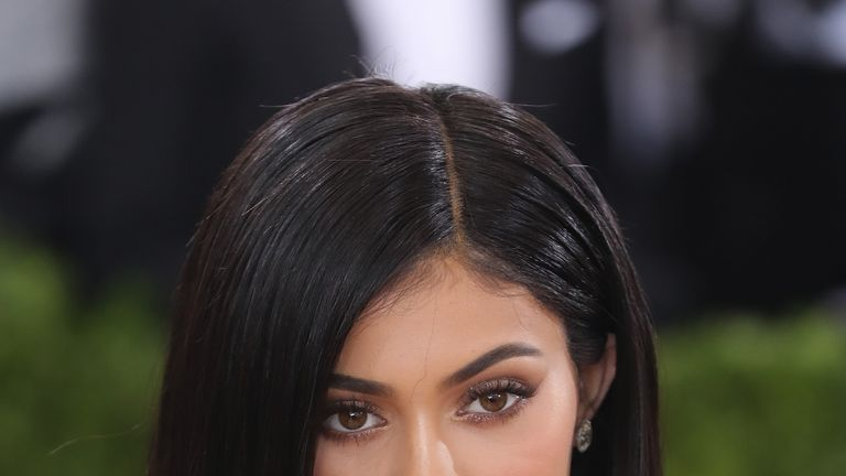Kylie Jenner owns a lucrative cosmetics line