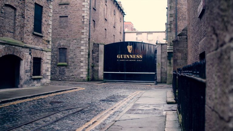 Diageo's Guinness operation exports the vast majority of its products