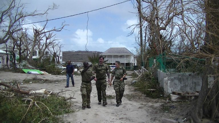 The British military have arrived on the territory of Anguilla. Pic: MoD