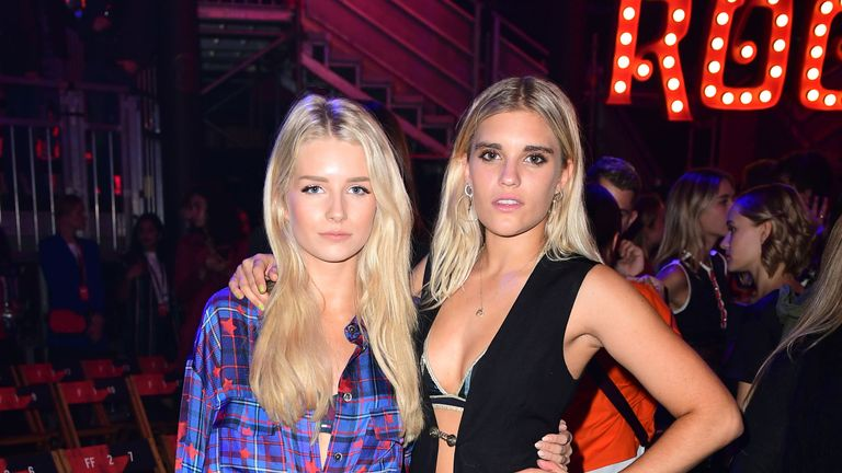 Lottie Moss (left) during the Tommy Hilfiger Front row