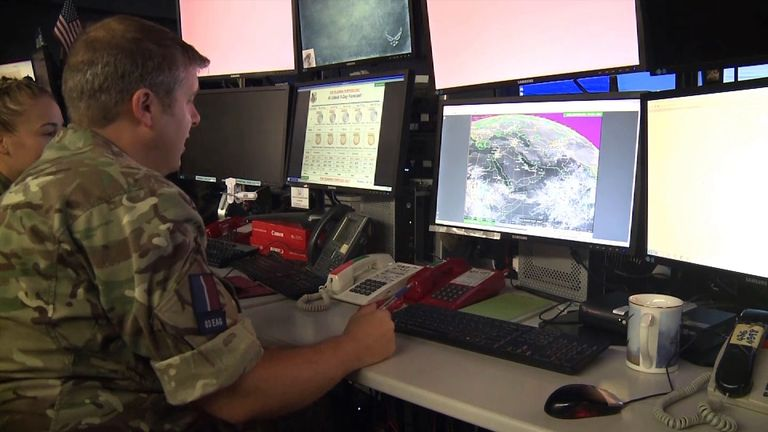Sky News has visited the Coalition Combined Air Operations Centre (CAOC) this week. Based in Qatar, it controls all air operations above Iraq and Syria - it's so sensitive that it took us three years to get access.