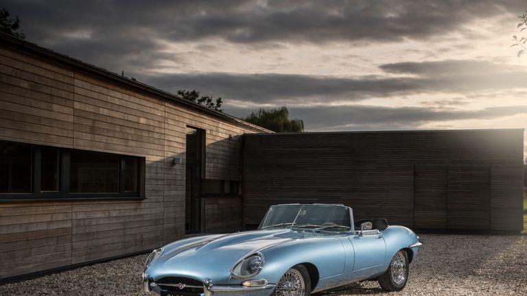 The iconic Jaguar E-type is now electrified for the 21st century