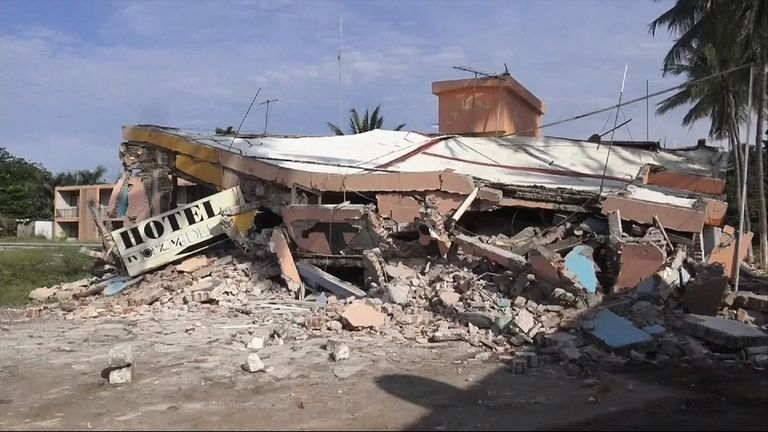 At least 35 people died in the quake