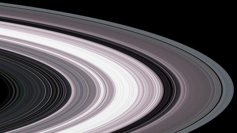 Saturn's rings as captured by Cassini. Pic: NASA