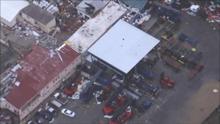 Hurricane Irma has caused havoc on the island of St Martin