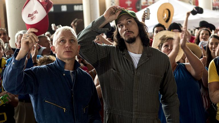 Daniel Craig and Adam Driver in Logan Lucky