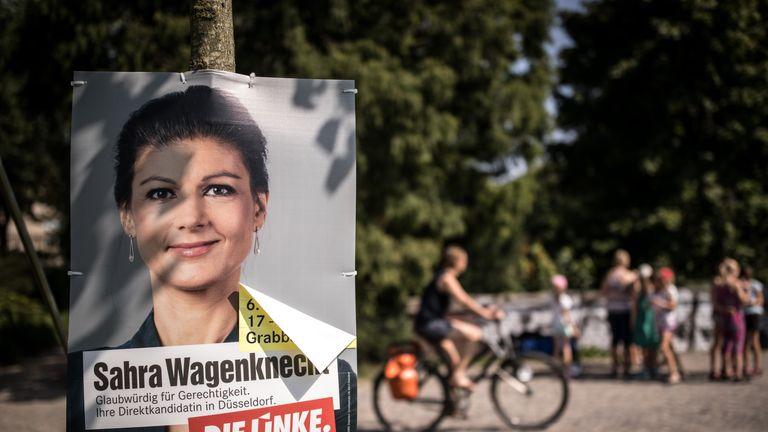 Die Linke campaign poster ahead of German election