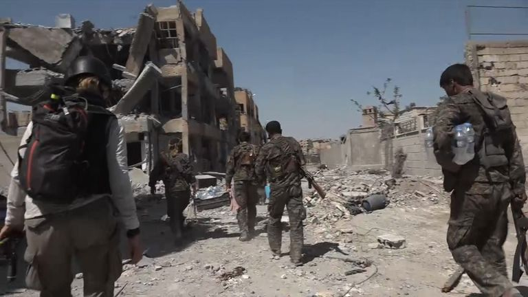 The battle to drive IS out of Raqqa continues