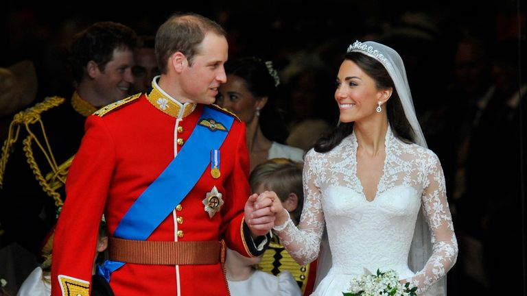 William and Kate were married on 29 April 2011