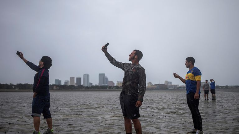 Selfie time as the storm approaches Tampa