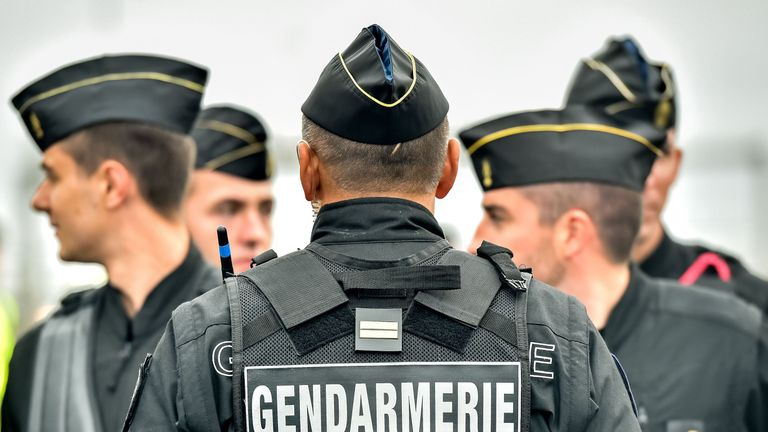 French gendarmes. File photo.