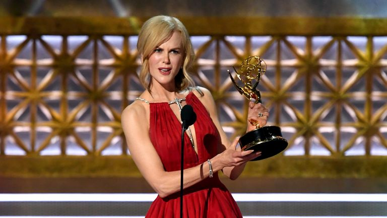 Nicole Kidman accepts Outstanding Lead Actress in a Limited Series or Movie for 'Big Little Lies'