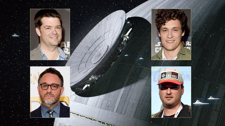 (Clockwise from top left) Chris Miller, Phil Lord, Josh Trank, and  Colin Trevorrow