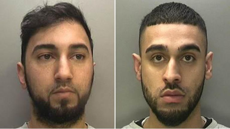 Umair Khan (R) and Nazim Hussain (L) have been jailed for a total of 31 years