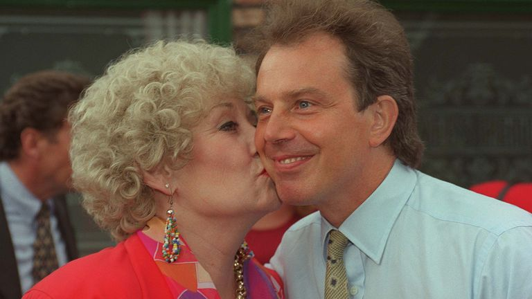 Elizabeth Dawn and Tony Blair