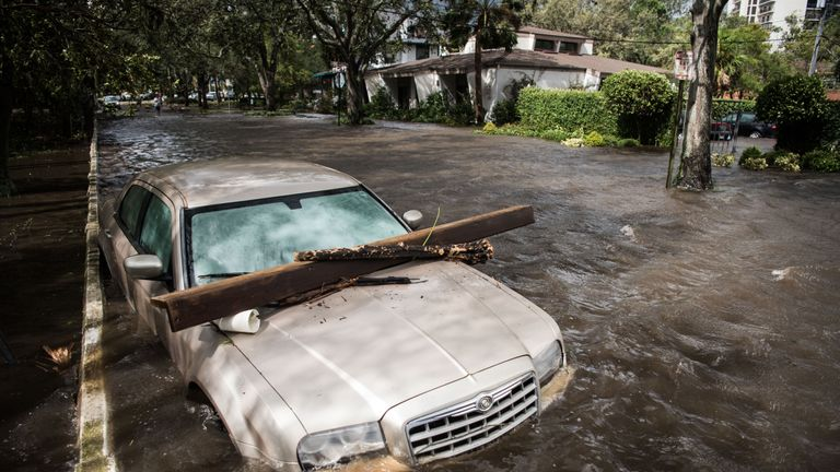 Residents living near St Johns River in Jacksonville were told to 'get out now'