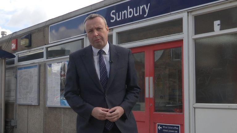 Mainline trains towards Wimbledon leave regularly from Sunbury