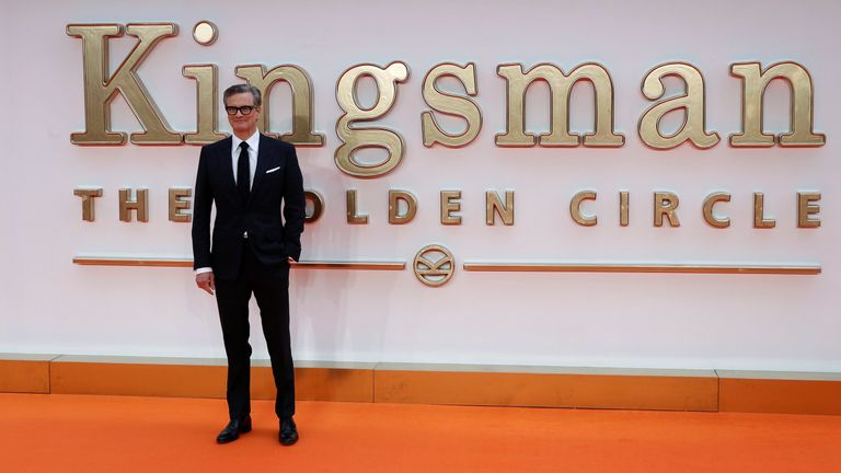 """Cast member Colin Firth arrives for the world premiere of """"Kingsman: The Golden Circle"""" in London"""