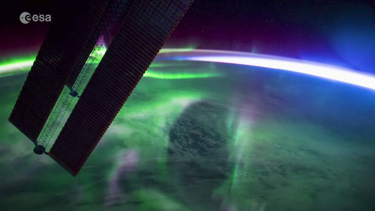 This stunning timelapse of Aurora from space was filmed by astronaut Paolo Nespoli.